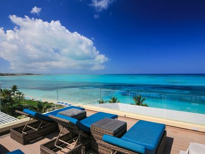 Photo for *Please Enquire* Special rates on certain weeks - 4 bedroom Penthouse on Grace Bay at the Windsong