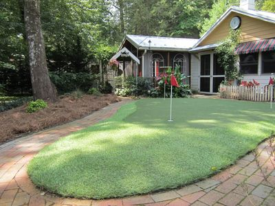 Putting green-putters provided.