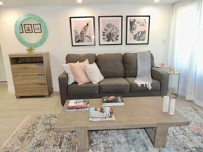 Photo for NEW LISTING! Luxe 2 bed w/parking sleeps 6 block frm Lincoln rd & Convention ctr
