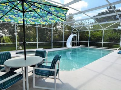 Photo for Private Pool with Spa & Water Slide!