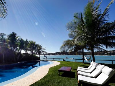 Photo for Buz008 - Luxury house with pool on the seafront in Buzios