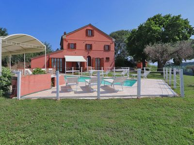 Photo for Villa with private swimming pool and panoramic views, close to the Adriatic coast