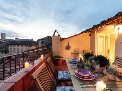 Photo for PANORAMIC TERRACE PENTHOUSE inside the Walls of Lucca