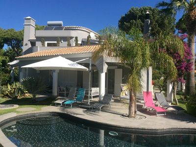 Photo for Large luxury detached villa 4 en-suite bedrooms private pool golf at 300 meters