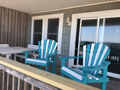 Relax on private covered deck