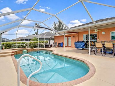 Photo for New Listing, Lovely SE Cape Coral Heated Pool & Spa Home, Privacy Fenced Yard, Free Parking & WiFi