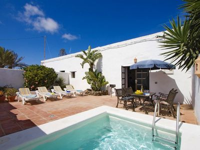 Photo for Typical canarian  house with private Pool