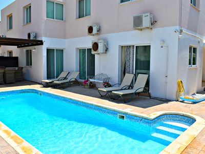 Photo for Kato Paphos - Universal - 3 Bedroom Apartment with Private Pool - Wifi - Aircon