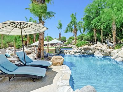 Photo for Palm Villa Paradise w/ Pool, 2 Spas, 2 Casitas & Lush Oasis w/ Putting Green