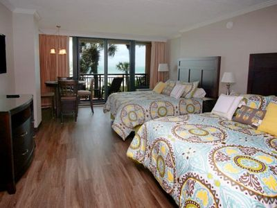 Caravelle Resort 219, Spacious 1 BR Ocean Front Condo with Indoor Outdoor Pools, Hot Tubs, Lazy River and Kiddie Pool