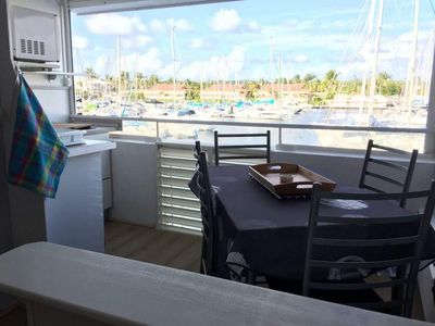 Photo for The Balcony of the direct view of the marina marina of Saint Francois