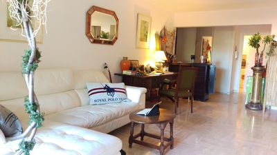 Photo for YOUR OASIS IN CANNES, SLEEPS 3-4, JUST 7 MINUTES WALK TO BEACH, PRIVATE POOL :)