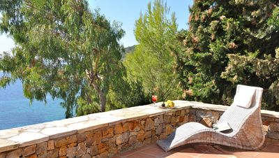 Photo for Alonissos - idyllic villa with private beach & jacuzzi and amazing sea views