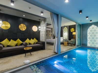 Photo for H studio double bed private pool in room