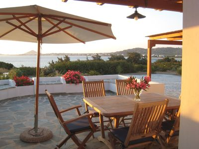 Photo for Naxos Beachvilla, a dreamhouse, 60m to sandy beach, big garden, top location