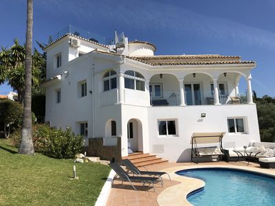Photo for Luxury Villa with Panoramic Sea and Golf views, Quite location.