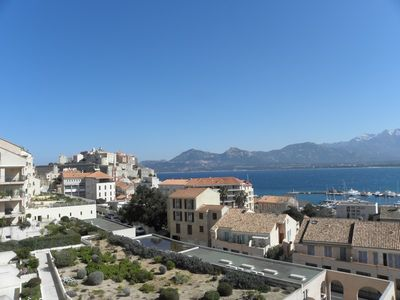 Photo for Apartment overlooking the center of Calvi sea 500 meters from the beach