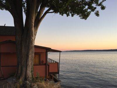 Photo for Stunning Waterfront West Seattle Cottage with views of the Olympic Mountain