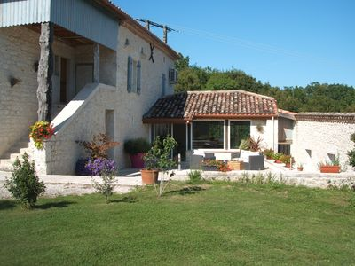 Photo for QUERCY FARM HOUSE WITH HEATED POOL AND SAUNA.