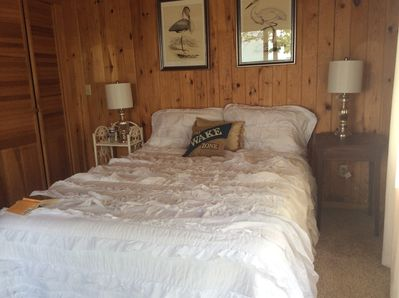 Inviting queen bed in the master bedroom