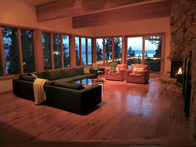 Photo for Luxury Lakeview home: Beautiful view of lake! Huge Deck, fireplaces, pool table