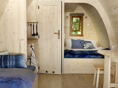 Photo for Sleeping in a Pod with the luxury of a hotel room in National Park Veluwezoom