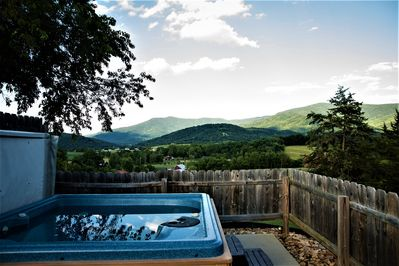 Relax in the Hot Tub while enjoying the views.