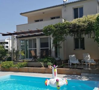 Photo for Nice Family Villa with Private Pool, 100 m from the Beach and Barbecue