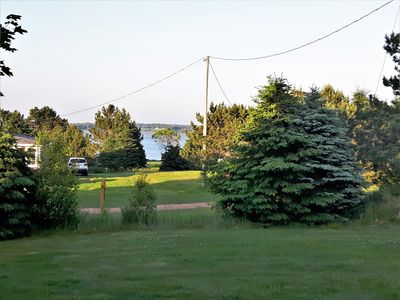 View from living room and front deck