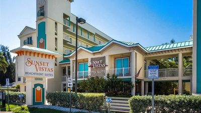 Sunset Vistas Beachfront w/Covered Parking - Elevators to Top Floor & Our Condo.