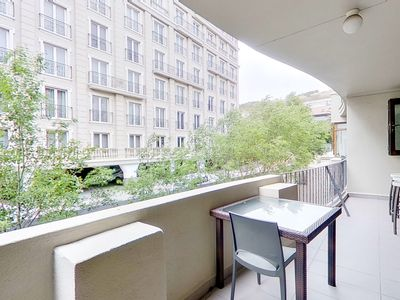 Photo for Convenient apt. w/furnished balcony, city views - walk to shops & restaurants