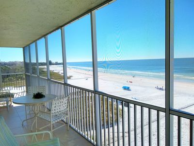 Photo for Siesta Key 5th Floor Center Front Condo on Crescent Beach 180' Panoramic Views