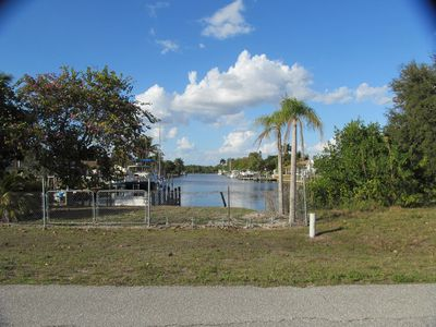 River view via front porch & channel to the Caloosahatchee River