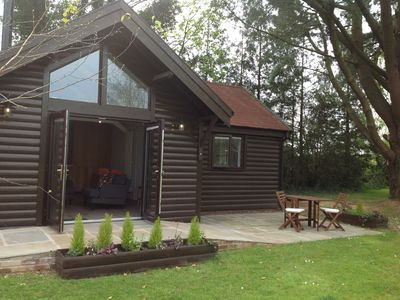 Photo for Cosy, stylish detached lodge, ideal for a romantic retreat with woodburner