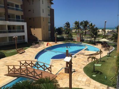 Photo for Apartment equipped in Porto das Dunas, sea view, prox. Beach Park