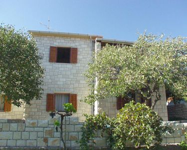 Photo for Three bedroom apartment with terrace and sea view Postira (Brač)