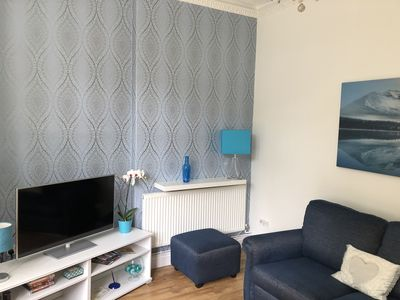 Photo for Stylish Apartment near Cardiff Castle, terrace and parking, walk to city centre
