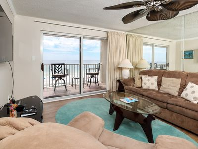 Photo for The Palms 304: MASTER bdrm BALCONY access -beach service included!