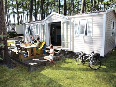 Photo for Family Camping Club Lou Pignada ***** - mobile home 6 people - 6 places (between 6 and 10 years)