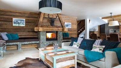 Photo for Charming alpine chalet with hot tub in peaceful location close to Chamonix