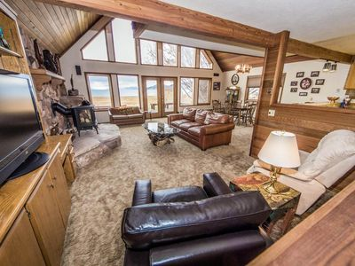Photo for Lakefront family cabin w/ large deck & great views of Bear Lake!