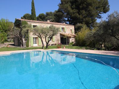 Photo for Landhouse in Le Castellet, private pool,10 km from the Bandol beaches