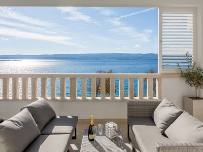 Photo for Villa Lux **** by Split NEW beachfront, sea view and private hot tube 3
