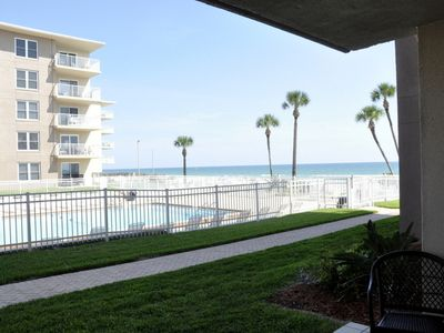 Photo for The No-Drive Beach is just a few steps away in this First Floor 2/2
