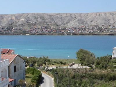 Photo for Three bedroom apartment with terrace and sea view Pag