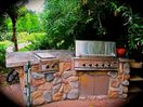 Spend time at this Outdoor Barbecue, cooking and enjoying the views!