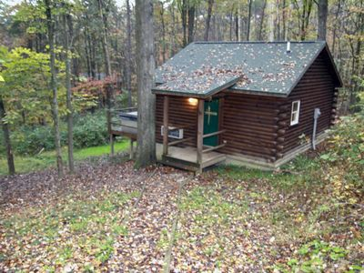 Photo for Cabin that sleeps up to 6 with a hot tub!