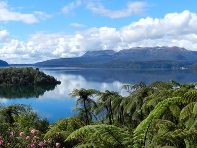 Photo for Tui Glen - Lake front bach with stunning views