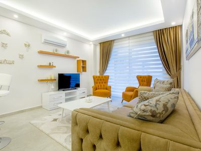 Photo for Sea view apartment. At the beach. Alanya / Kestel ... 1 bedroom, 1 living room.