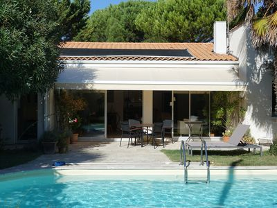 Photo for Home with south facing pool not overlooked in La Rochelle